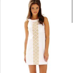 LILLY PULITZER White Jacqueline A-Line Shift Dress